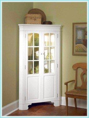white-curio-corner-cabinet