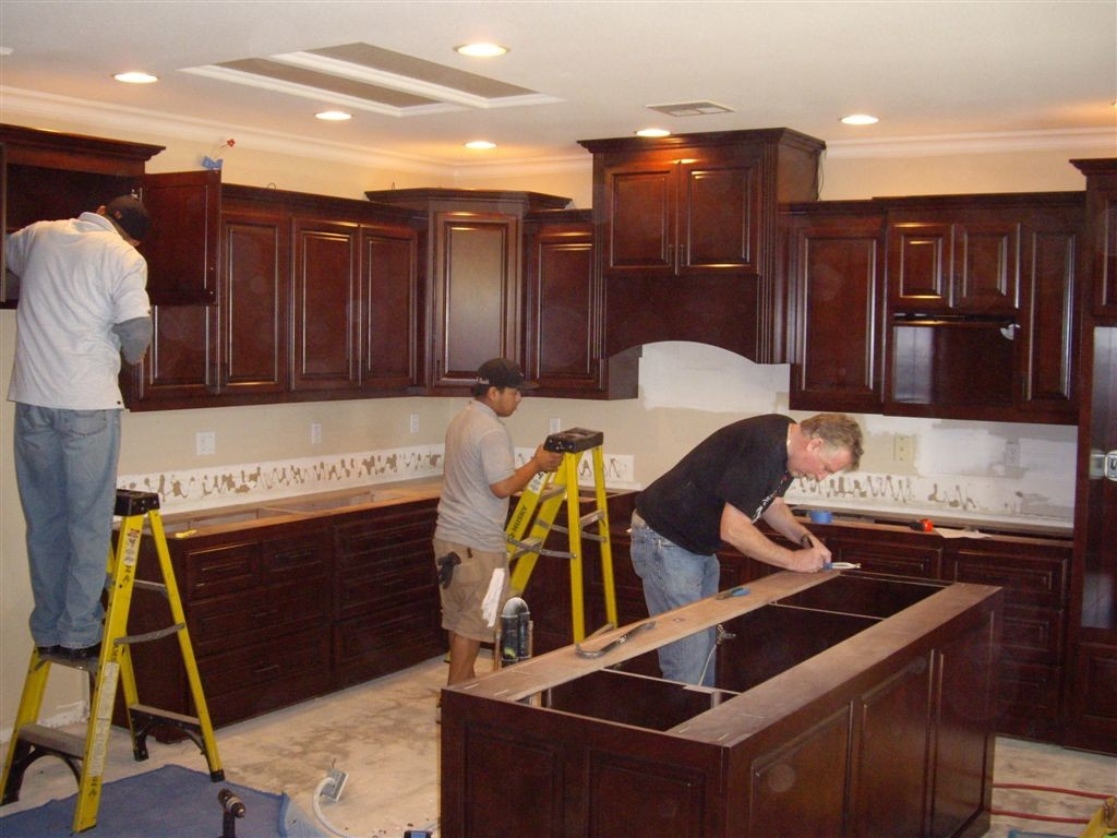 How to install kitchen fascinating installing kitchen cabinets