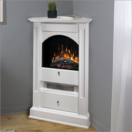 corner electrical fireplace